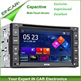 EinCar Capacitive Multi-Touch Screen GPS Navigation Car DVD Player 2 DIN Car Stereo Radio Video Bluetooth USB/SD Universal Interchangeable Player