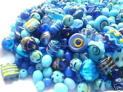 -blue-assorted-fancy-bead-mix-lampwork-crystal-czech-glass-lucite-acrylic-wood-metal-jewellery-makin