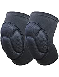 Rokoo 1 paire Kneepad épais Extreme Knee Pad Eblow Brace Support Lap Knee Protector pour le football Volleyball Cyclisme Sports