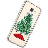 Handytasche Samsung Galaxy J6 2018 Weihnachten Hülle Clear Case Ultra Dünn Durchsichtige Silikon Kirstall Transparent Handy Hülle Bumper Cover Schutz Tasche Schale,Grün Weihnachtsbaum
