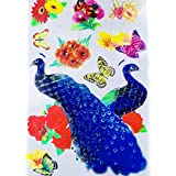 TOTAL HOME 7D Design Wall Sticker For Living Room Peacock Birds Nature Art Wall Stickers Room Magnetic Home Decor Home Decoration- Multiple Color 1pc