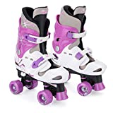 Osprey Girls Quad Skates - Black/White/Purple, Size 13-3