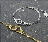 2Handschellen Armbänder, Partner in Crime, Best Friends Armbänder, passende Armbänder, LOVE Armbänder, Freundschaf