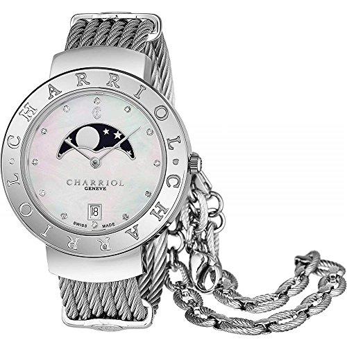 Charriol Women's Diamond 35mm Steel Bracelet Quartz Watch ST35CS.560.008