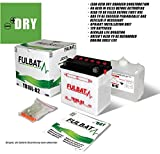 Fulbat 550557 550557 Batterie YB10L-B2 (mit Säurepack) Set