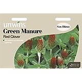 Unwins Pictorial paquete–Abono verde rojo Clover–5000semillas