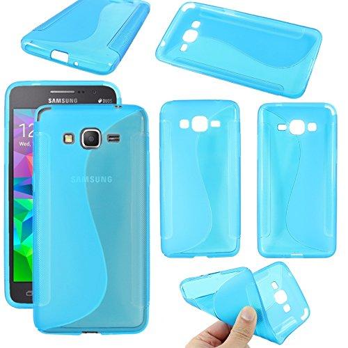 ebestStar - Compatibile Cover Samsung Grand Prime Galaxy G530F, Value Edition G531F Custodia Protezione S-Line Design Silicone Gel TPU Morbida e Sottile, Blu [Apparecchio: 144.8x72.1x8.6mm, 5.0'']