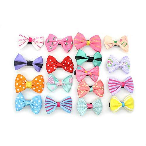 LKJH Haarspange 10Pcs Mixed Candy Color Ribbon Bogen HaarnadelZubehör, Zufällige Farbe (Bögen Ribbon)