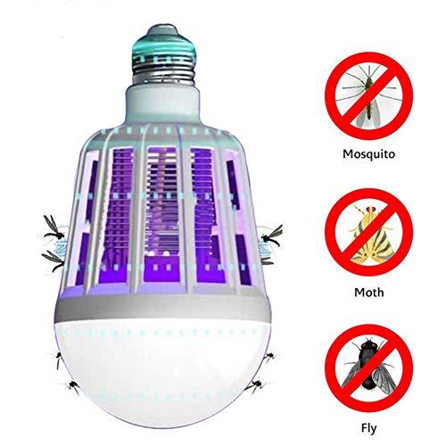 Livecity Insektenfalle Zapper Light, 2 In 1 E27 LED Glühbirne Bug Moskito Fly Zapper Hausgarten Insektenvernichter Lampe -