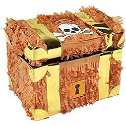 Trend Ario–Piñata, diseño de cofre del tesoro–Ideal para llenar con dulces y regalos–Piñata, Cofre del Tesoro Cumpleaños para niños parte