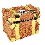 Trendario Pinata Schatztruhe - Ideal zum Befüllen mit Süßigkeiten und Geschenken - Piñata Schatzkiste für Kindergeburtstag Spiel