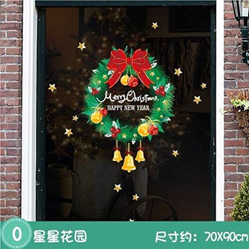 Myvovo Halloween Aufkleber Einkaufen Fensterglas Aufkleber Ghost Festival Weihnachten Fenster Aufkleber Wandaufkleber Shop Szenen Dekoration Dekorationen (Halloween Einkaufen Für)
