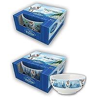 BETA SERVICE el50973 la Frozen Olaf 2 diseños Cuencos de Cereales, plástico, ...
