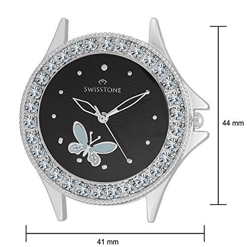 Swisstone Analogue Black Dial Girl's and Women's Watch – VOGLR501-BLK-CH