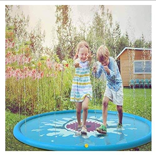 XIONGDA Kinderspritzspielmatte Im Freien Aufblasbare Sprinkle Spielmatte (170CM) Sommergarten Spray Wasserspielzeug Spaß für Kinder/Hund/Katze/Haustiere/Familienaktivitäten