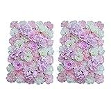 P Prettyia 2pcs 40× 60cm Künstliche Blumen Säule Blumenwand Kunstblumen Dekoration