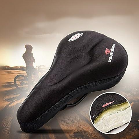 EQLEF® 1 pedazo grueso del amortiguador de silicona cubierta de la bici de la bicicleta montar sobre un sillín de la cubierta