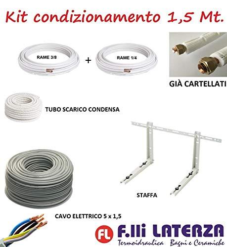 "Kit de instalación de aire acondicionado climatizador 1,5 m tubo cobre 1/4"" 3/8"" soporte"