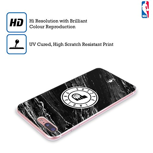 Officiel NBA B&W Marbre Indiana Pacers Étui Coque en Gel molle pour Apple iPhone 5 / 5s / SE B&W Marbre