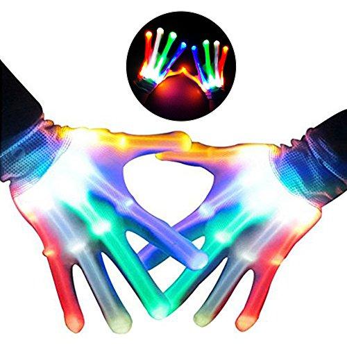 Gute Alten 12 Kostüm Jahre Jungen - KITY Jungen Geschenke 4-12 Jahre,LED Handschuhe LED Leuchtende Finger-Handschuhe Geschenke Jungen 3-12 Jahre mit 5 Farben 6 Modi für Clubs,Disco,Festivals(Bunt)