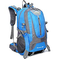 40L Mens impermeable al aire libre impermeable deportes mochila viajes de senderismo camping bolsa mochila bolsa mejor regalo de Navidad (Azul)