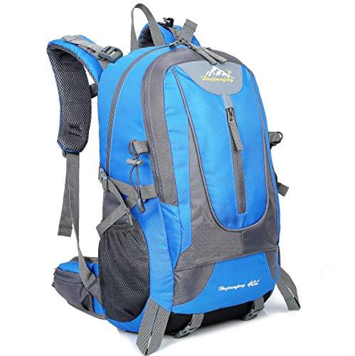 Zaino sportivo traspirante impermeabile all'aperto degli uomini di 40l che viaggiano il sacchetto della bici della zaino del campeggio migliore regalo di natale (blu)