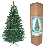 6ft Christmas Tree GREEN 550 Pines Artificial Tree with Metal Stand from shatchi Gift 4 All Occasions