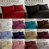 2 x Luxury Pair of Housewife Pillow Cases Non Iron Percale Bedroom Bedding Pillow Cover