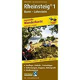 Wanderkarte Rheinsteig 1: Bonn - Lahnstein: mit Ausflugszielen, Einkehr- & Freizeittipps, wetterfest, reissfest, abwischbar, GPS-genau. 1:25000