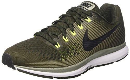 19f4ab5531276 Nike Air Zoom Pegasus 34, Zapatillas de Running para Hombre, Multicolor  (Sequoia/Black-Dark S 302), 40 EU