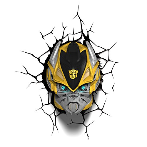 3d light fx 3dfx-84053 transformers bumble bee lampada led, plastica, multicolore, 23 x 15 x 31 cm