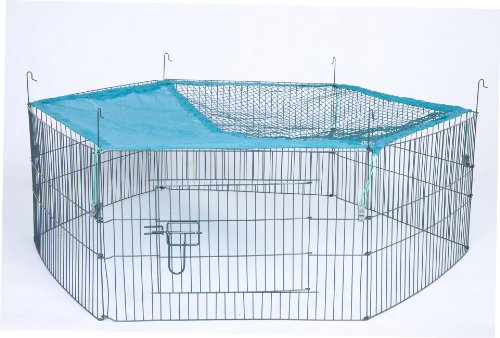 Trixie Natura Enclos d'extérieur 6éléments pour Jeunes Animaux avec Filet, 5838x 38x 38cm