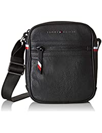 Tommy Hilfiger - Essential Mini Reporter, Shoppers y bolsos de hombro Hombre, Negro (