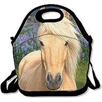 Lunch Tote Handsome Pferd Lunch-Boxen Lunchpaket Handtasche Lebensmittel Aufbewahrung passend für Schule Reisen Arbeit Outdoor - preisvergleich