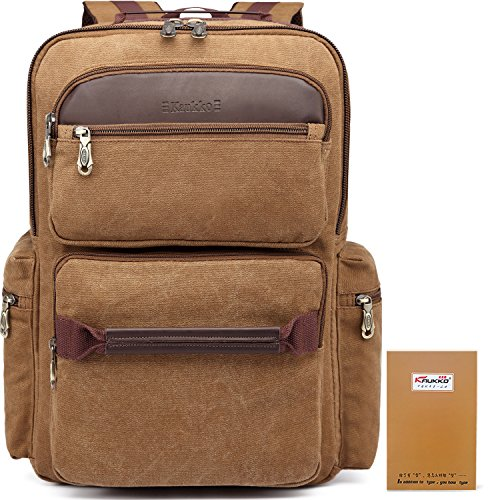 Price comparison product image New canvas travel backpack laptop by KAUKKO