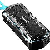 Tany Outdoor Bluetooth Lautsprecher IPX6 Wasserfest Staubdicht Anti-Fall Powerbank NFC-Touch-Verbindungsfunktion Tri-Bass-Effekten Sprachassistent und Mikrofon 20h...