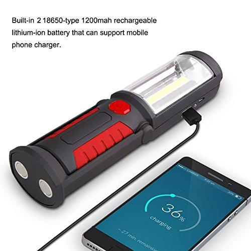 Zuoao portatile lampada da lavoro ricaricabile torcia da for 2 costi di costruzione del garage per auto