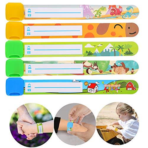 cherheits Armband,Notfallarmband,Sicherheitsarmband zum Beschriften für Kinder Wasserdicht,mehrmals verwendet ()