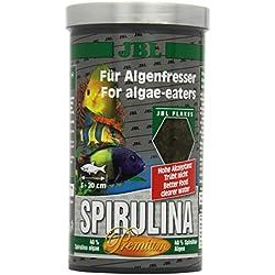 JBL Premium Alleinfutter für algenfressende Aquarienfische, Flocken 1 l, Spirulina 30002