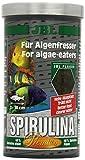 JBL Spirulina 30002 Premium Alleinfutter für algenfressende Aquarienfische, Flocken 1 l