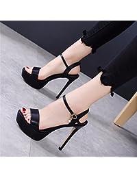 21fcfc676489b YMFIE Estate donna moda in pelle di nuovo le dita dei piedi tacchi alti  sandali parti