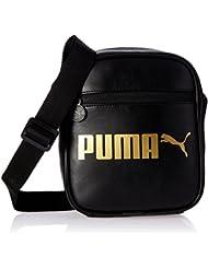 Puma Campus Portable-Bolso bandolera, color negro / dorado, talla 22.3 x 12.4 x 21 cm, 1.5 litros