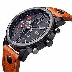FIZILI Mens 8192 Analog Quartz Orange Watch