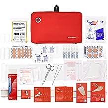 Botiquín primeros auxilios SUPER ROL con 120 artículos indispensables para realizar curas de emergencia (ROJO