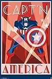 Tendances Captain America Poster Impressionnante Style Art déco Rare Hot 55,9x 86,4cm