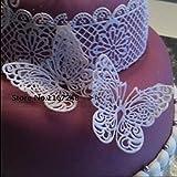 Schmetterling Form Silikon Form Spitze Kuchen Formen Fondant Werkzeuge Kuchen dekorieren Werkzeug Silikon Schokolade Zuckerguss Bordüre Zucker Form