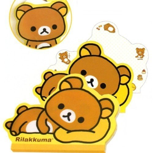 San-X Rilakkuma Die-Cut Memo Pad: Relax Bear Lying Down by San-X
