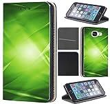 CoverFix Premium Hülle für Samsung Galaxy Xcover 4 Flip Cover Schutzhülle Kunstleder Flip Case Motiv (164 Abstract Grün Schwarz)