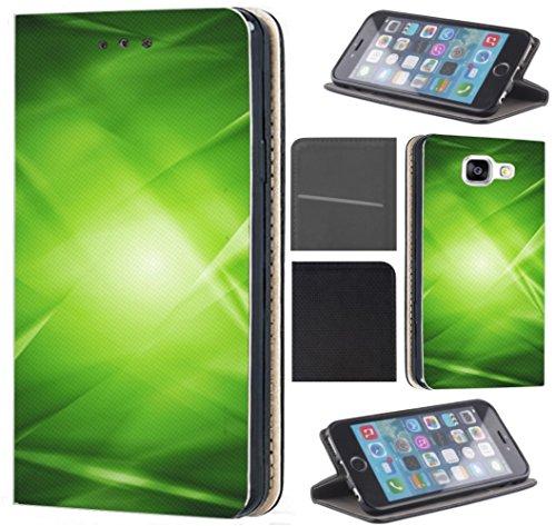 Neo Hülle von CoverHeld Premium Flipcover Hülle Samsung S3/S3 Neo aus Kunstleder Flip Case Motiv (164 Abstract Grün Schwarz) ()