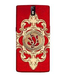 Fuson Designer Back Case Cover for OnePlus One :: OnePlus 1 :: One Plus One (Rangoli Lineart Graphics Ganpati God Hindu Religion)